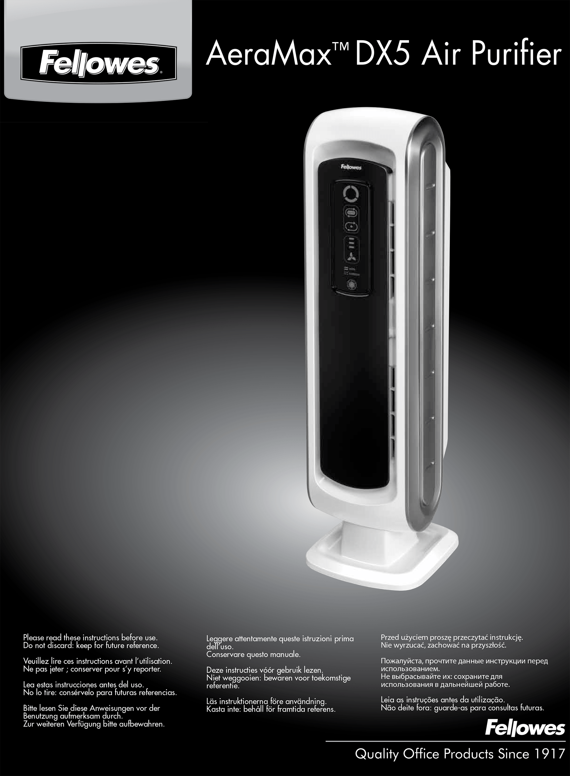 Purificador de aire AeraMax DX5 Fellowes. COVID-19. Virus H1N1. Alergias, anteponen, filtros HEPA, pequeño y portátil.